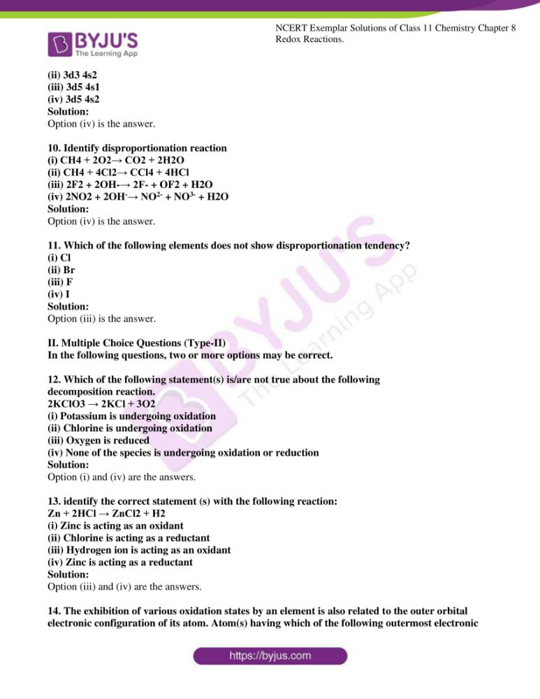ncert exemplar solutions for class 11 chemistry ch 8 redox 03