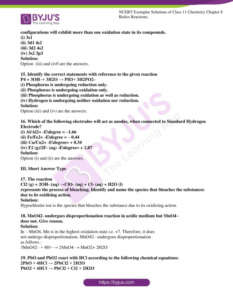 ncert exemplar solutions for class 11 chemistry ch 8 redox 04