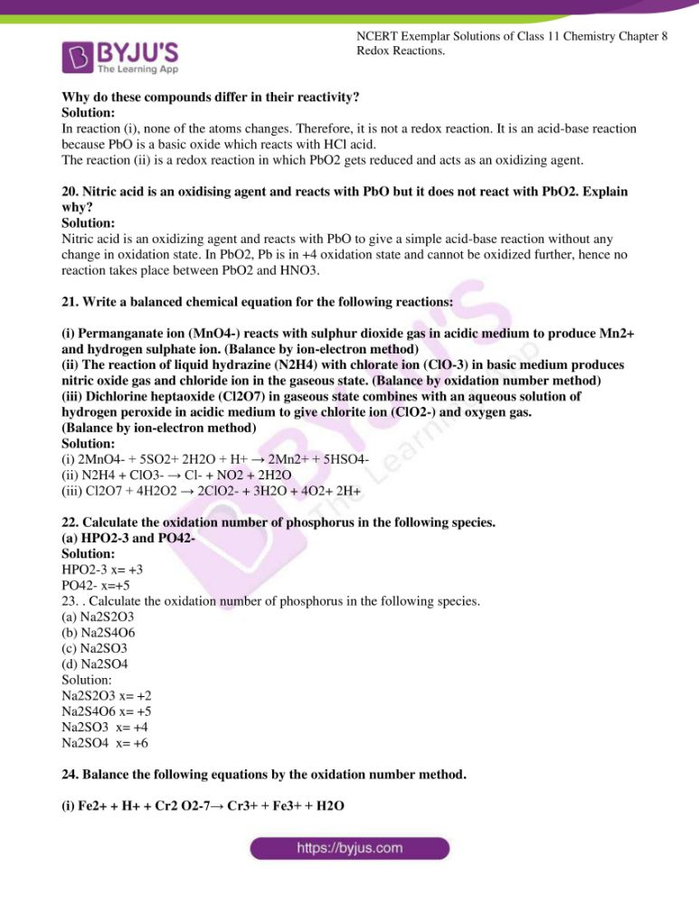 ncert exemplar solutions for class 11 chemistry ch 8 redox 05