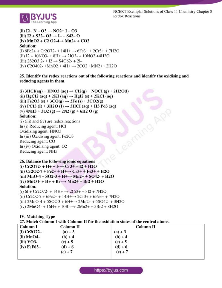 ncert exemplar solutions for class 11 chemistry ch 8 redox 06