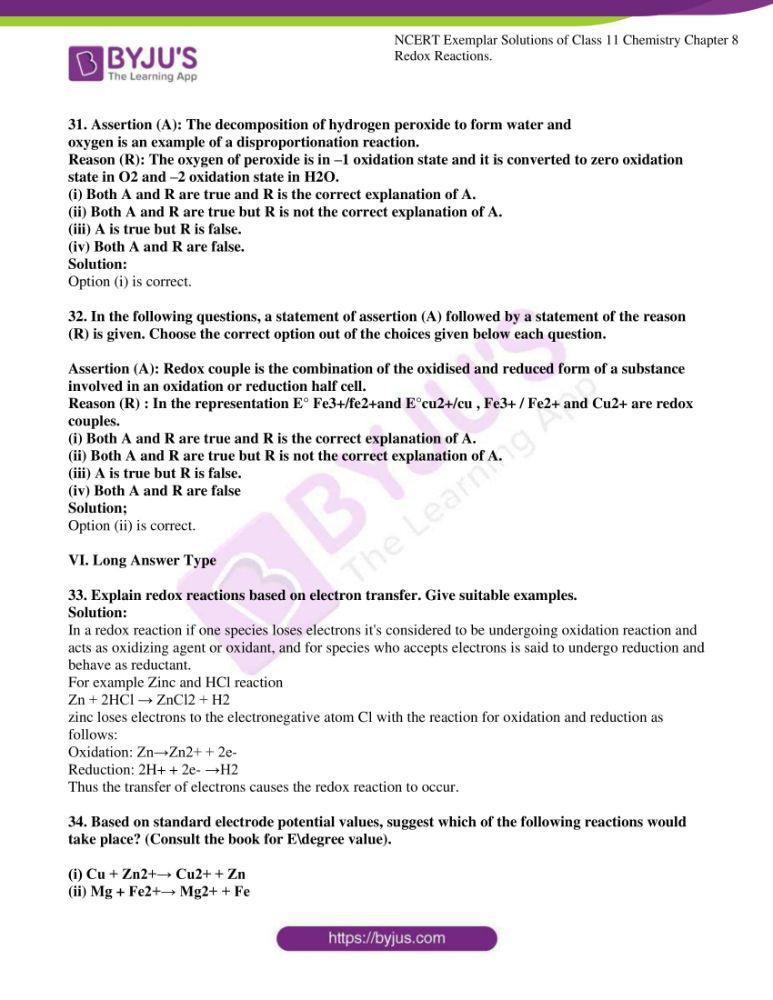 ncert exemplar solutions for class 11 chemistry ch 8 redox 08