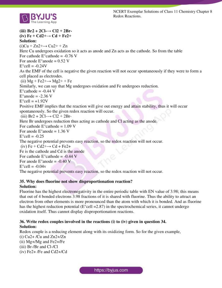 ncert exemplar solutions for class 11 chemistry ch 8 redox 09
