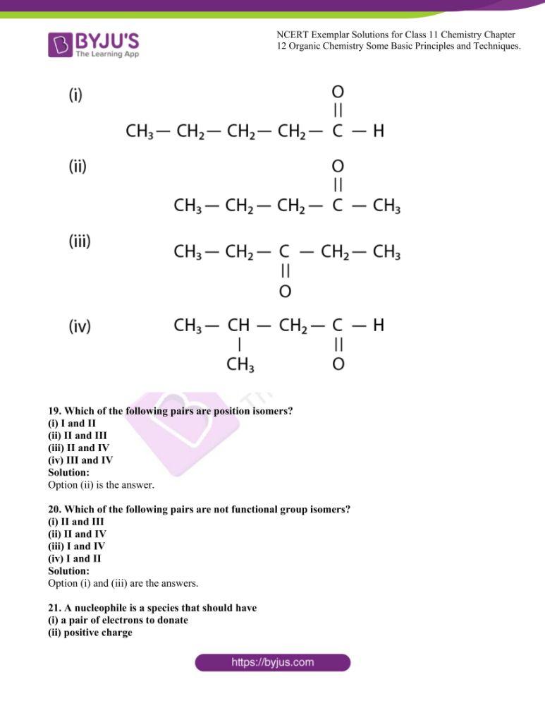NCERT Exemplar Class 11 Chemistry chapter 12