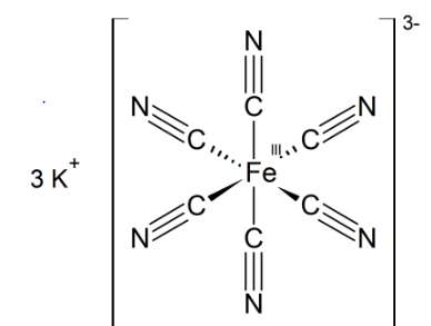 Potassium Ferricyanide structure