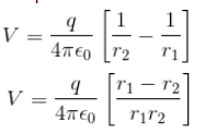 Potential due to dipole