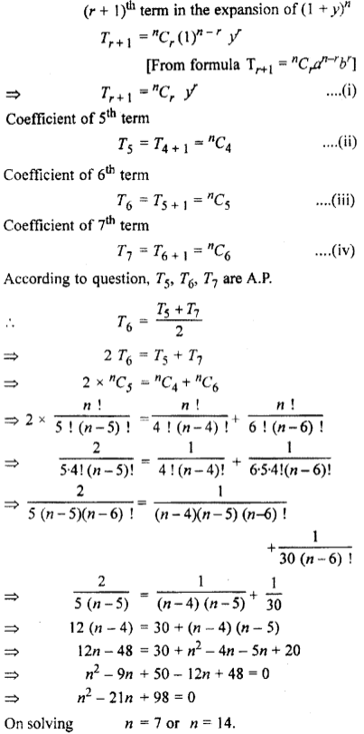 RBSE Class 11 Maths Solutions Chapter 8 Exercise 7.2 Question Number 7