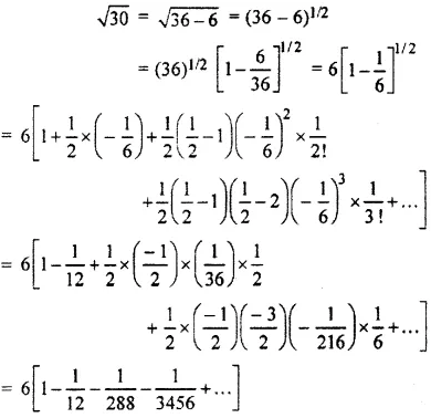 RBSE Class 11 Maths Solutions Chapter 8 Exercise 7.5 Question Number 3a