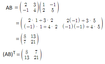 RBSE class 12 maths chapter 3 important Q5.1 sol