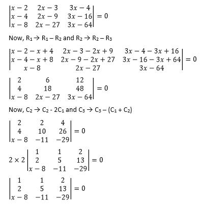 RBSE class 12 maths chapter 4 imp que 7 sol