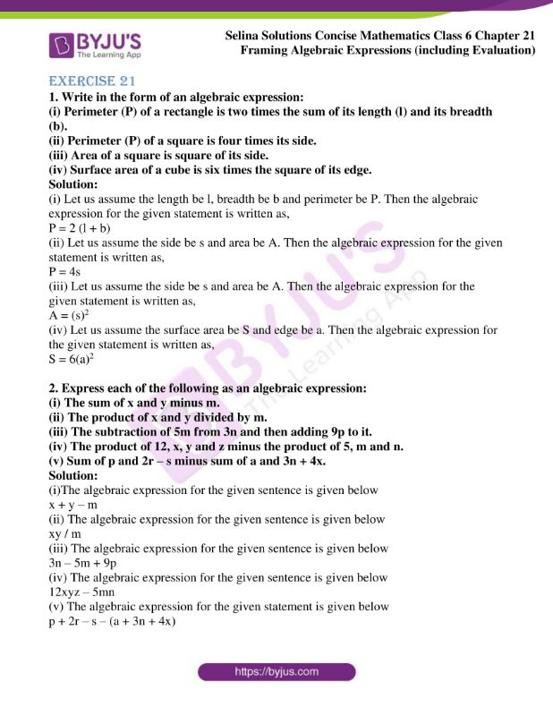 selina solutions concise mathematics class 6 chapter 21 01