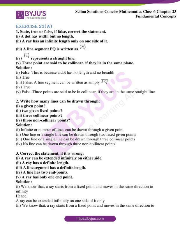 selina solutions concise mathematics class 6 chapter 23 ex a 01
