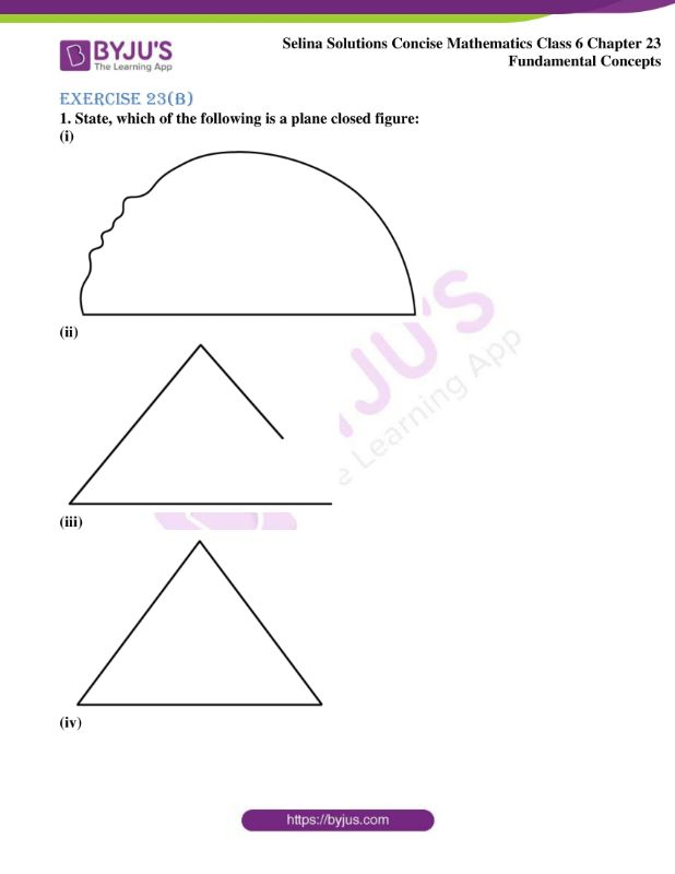 selina solutions concise mathematics class 6 chapter 23 ex b 1