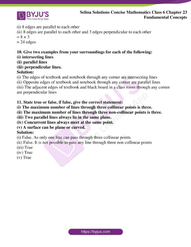 selina solutions concise mathematics class 6 chapter 23 ex b 9