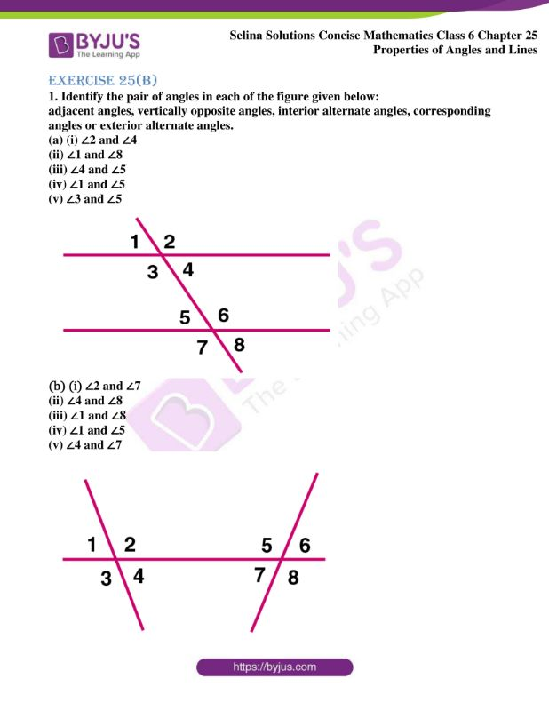 selina solutions concise mathematics class 6 chapter 25 ex b 01