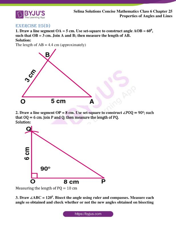 selina solutions concise mathematics class 6 chapter 25 ex d 1