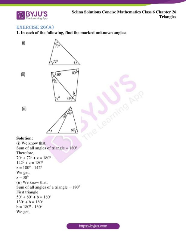 selina solutions concise mathematics class 6 chapter 26 ex a 1