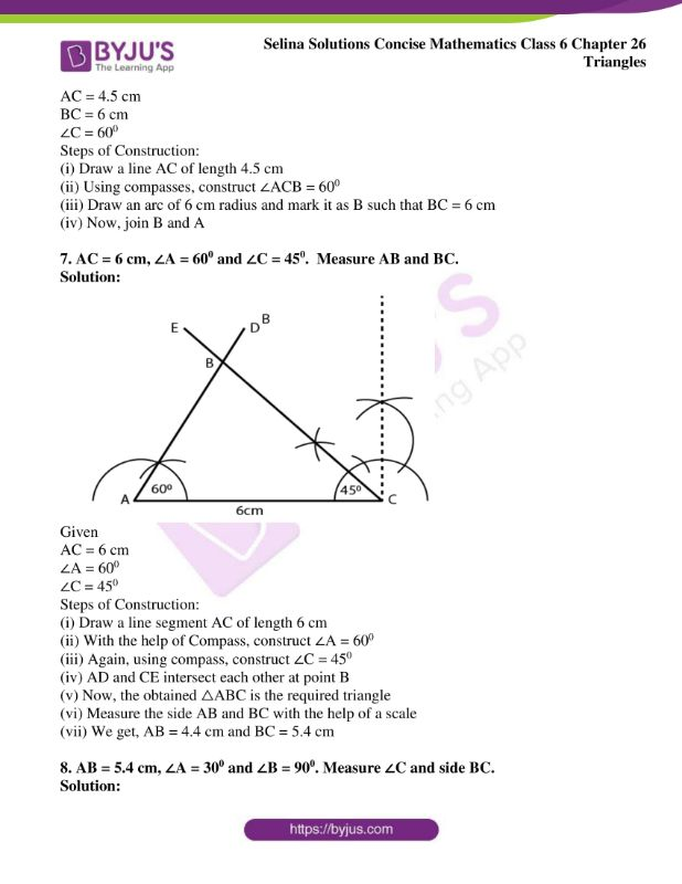 selina solutions concise mathematics class 6 chapter 26 ex b 5