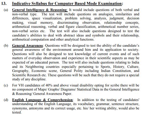 SSC Stenographer Exam - SSC Stenographer Syllabus