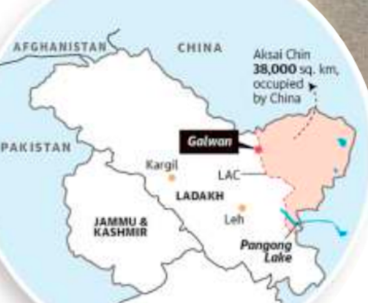 J&K, Ladakh Map - Indo - China Border