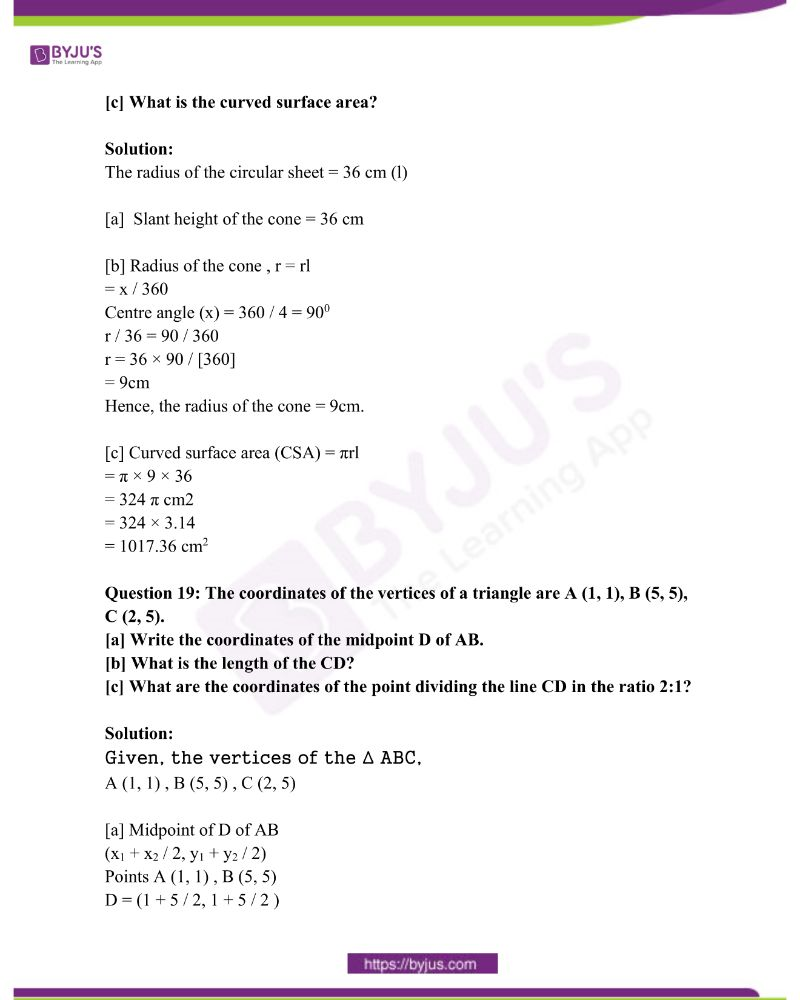 Kerala Class 10 Examination Question Paper Solutions March 2018 16