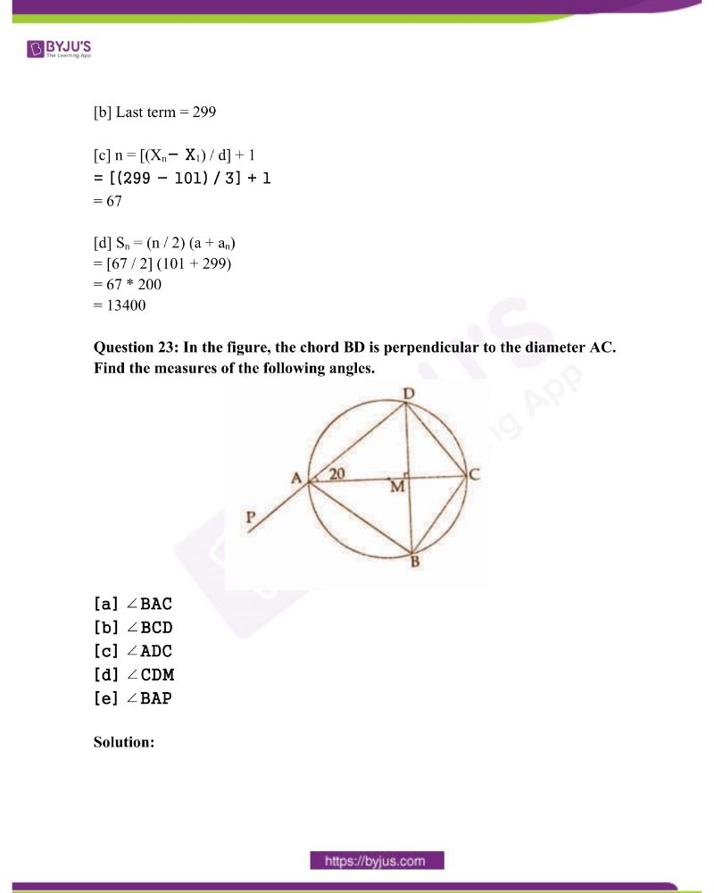 Kerala Class 10 Examination Question Paper Solutions March 2018 20