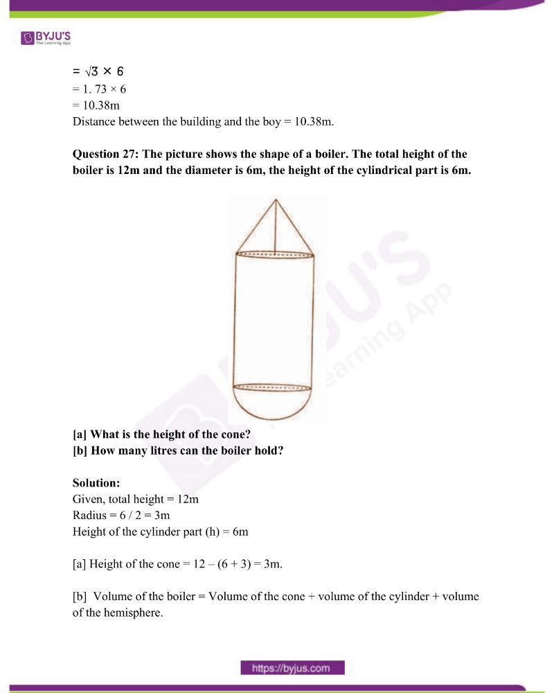 Kerala Class 10 Examination Question Paper Solutions March 2018 25