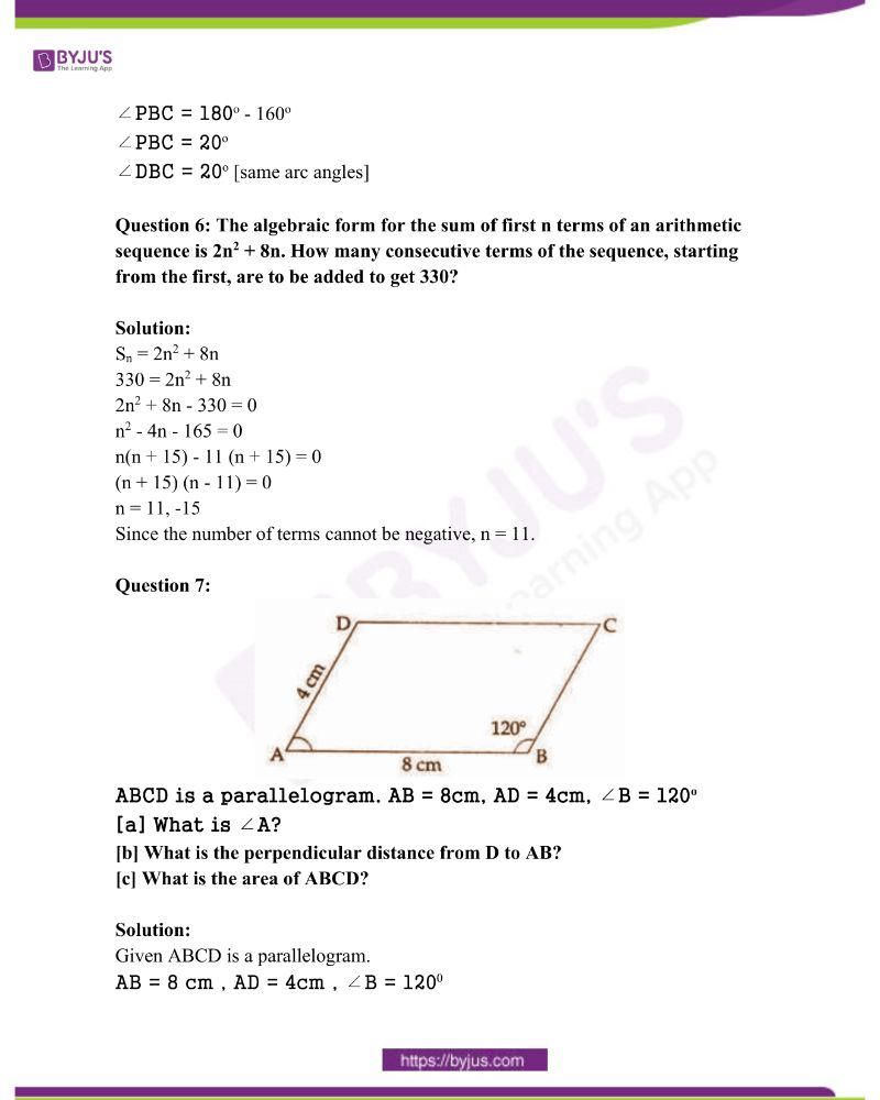 Kerala Class 10 Examination Question Paper Solutions March 2018 3