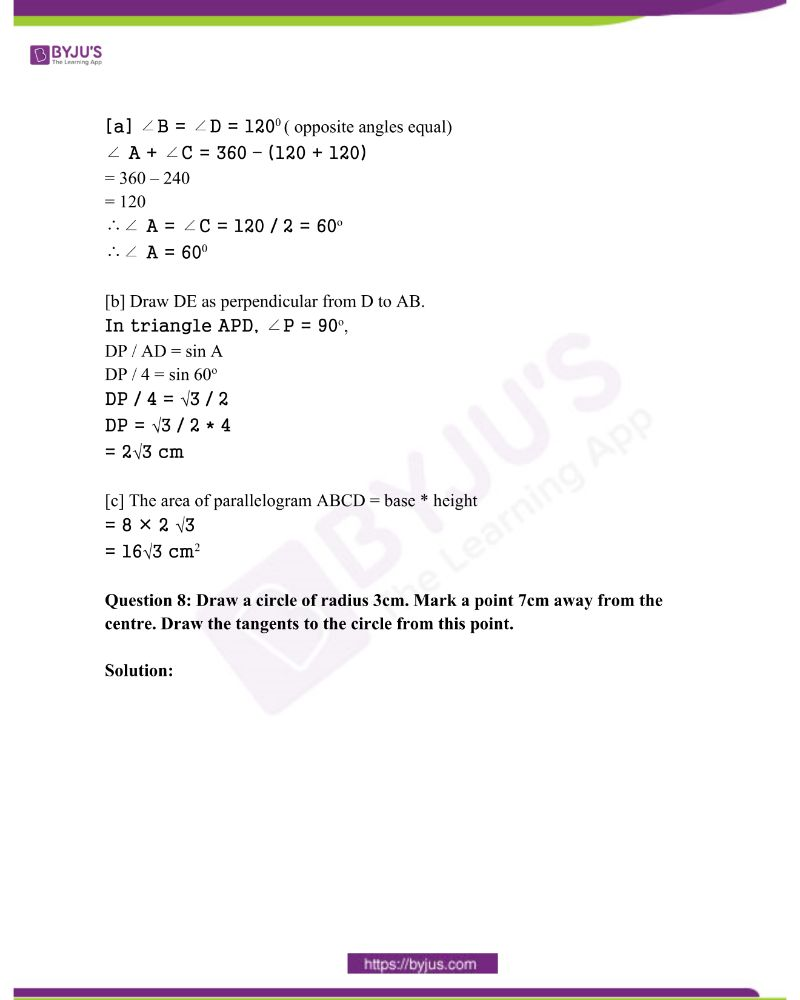 Kerala Class 10 Examination Question Paper Solutions March 2018 4