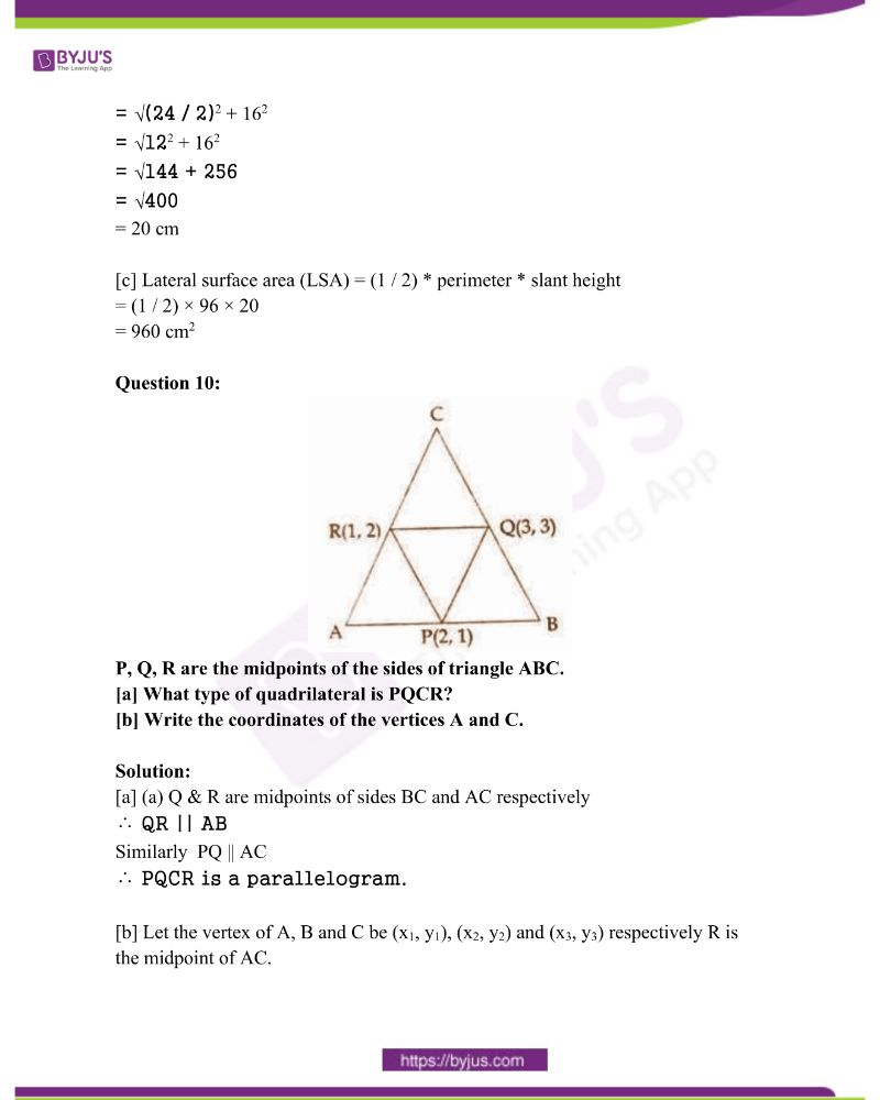 Kerala Class 10 Examination Question Paper Solutions March 2018 6