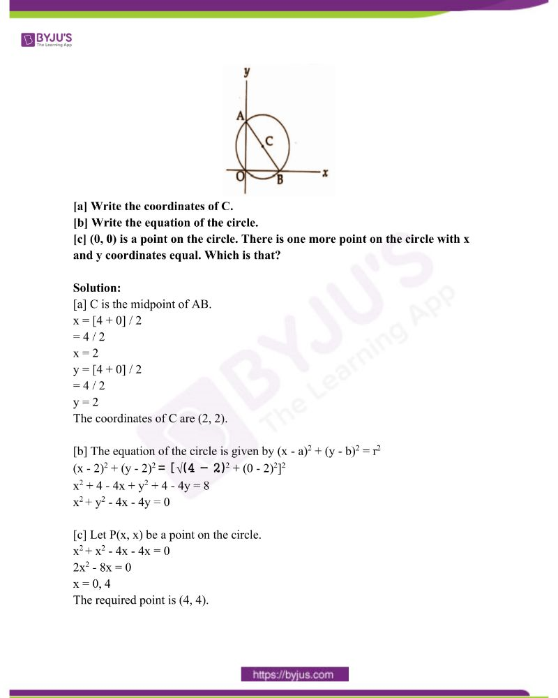 Kerala Class 10 Examination Question Paper Solutions March 2019 26