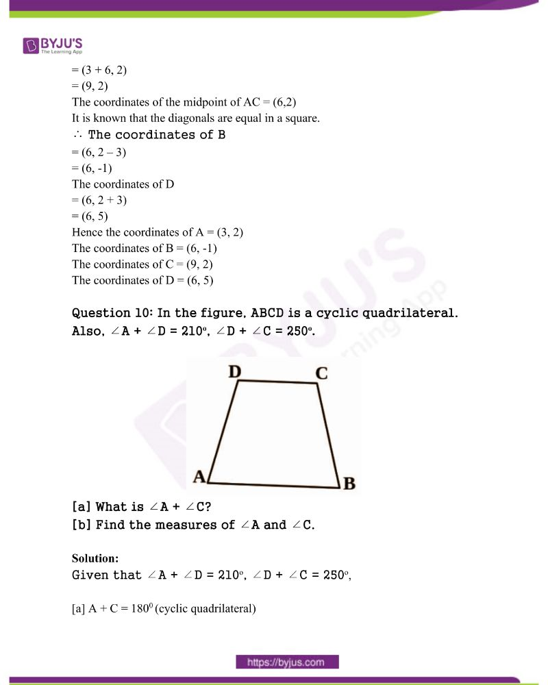 Kerala Class 10 Examination Question Paper Solutions March 2020 6