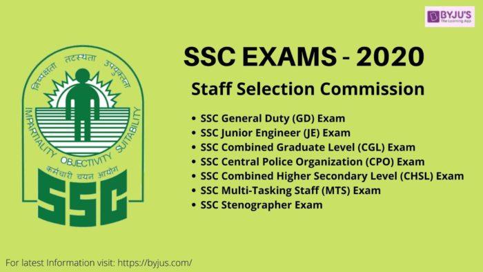 SSC Exams 2020