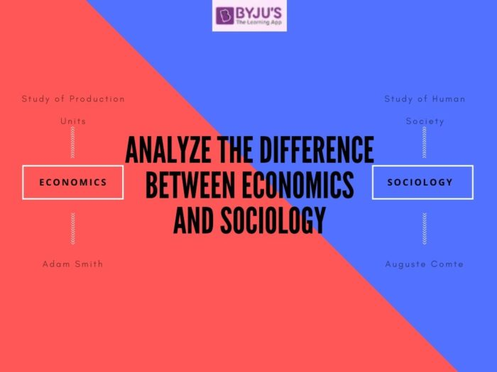 Difference Between Sociology and Economics - UPSC 2020 Exam