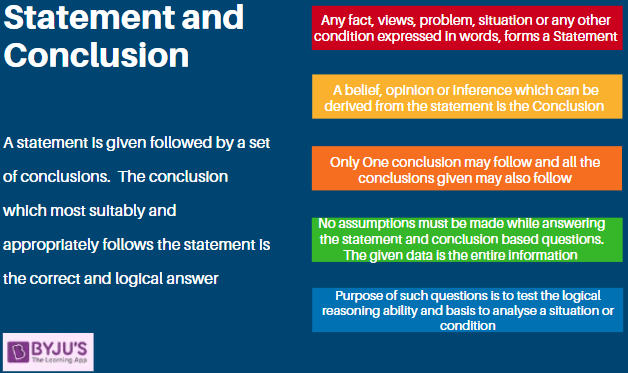 Statement and Conclusions - Logical Reasoning for Government Exams
