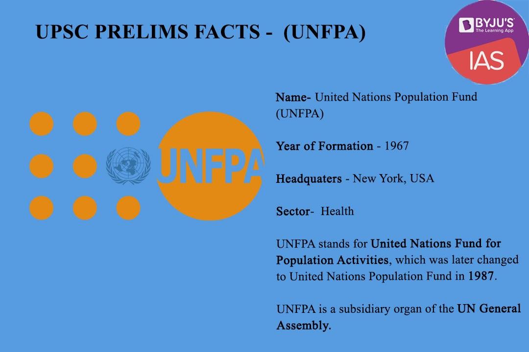 UNFPA UPSC Prelims Facts