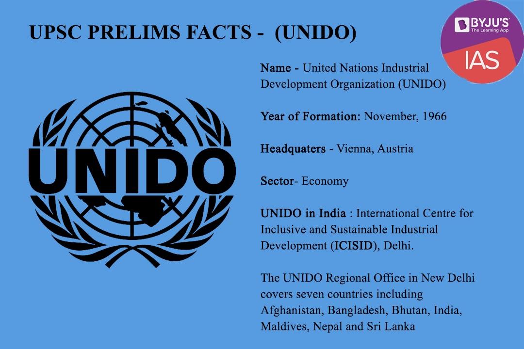 UNIDO Prelims Facts