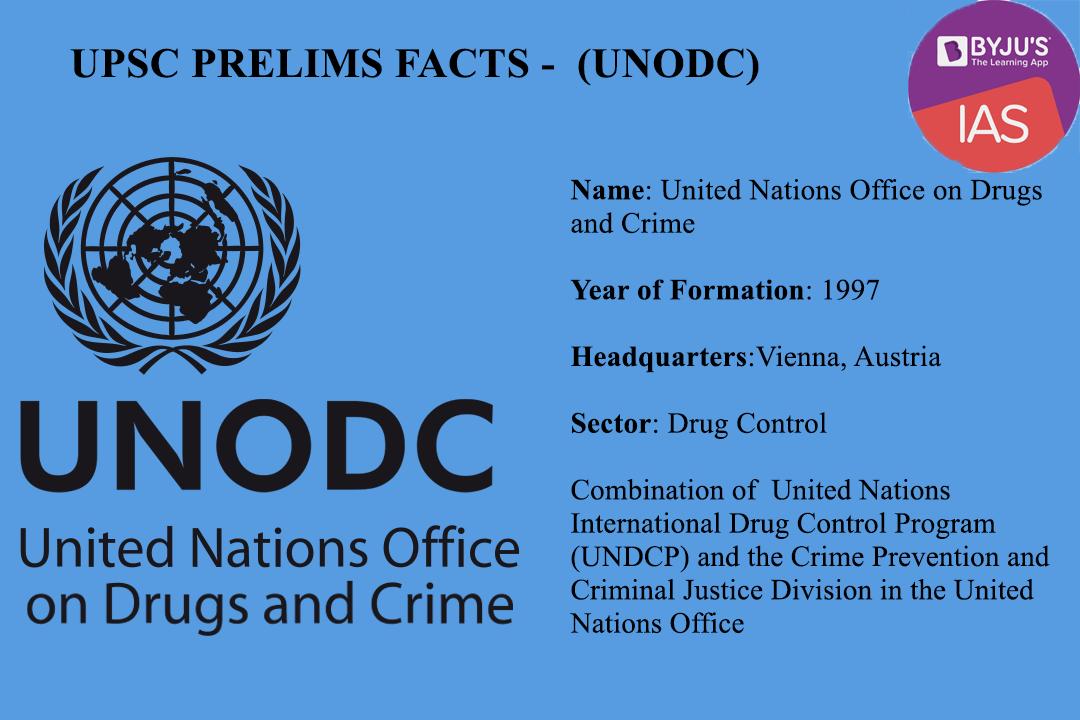UPSC Prelims Facts - UNODC