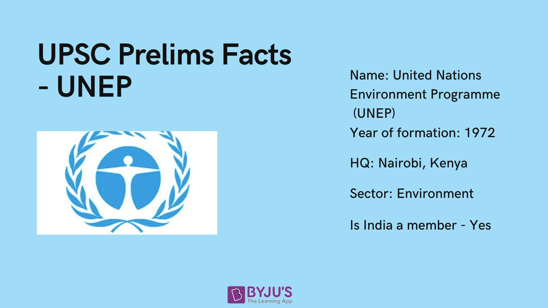 UNEP - UPSC Prelims Facts