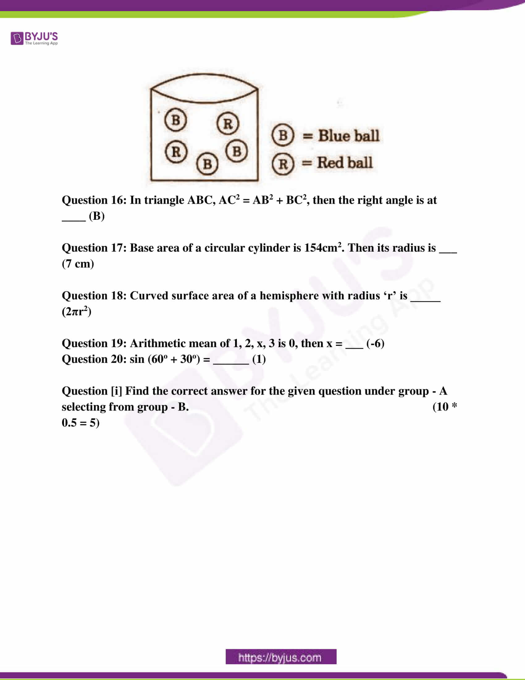 ap class 10 maths question paper 2 sol march 2016 18