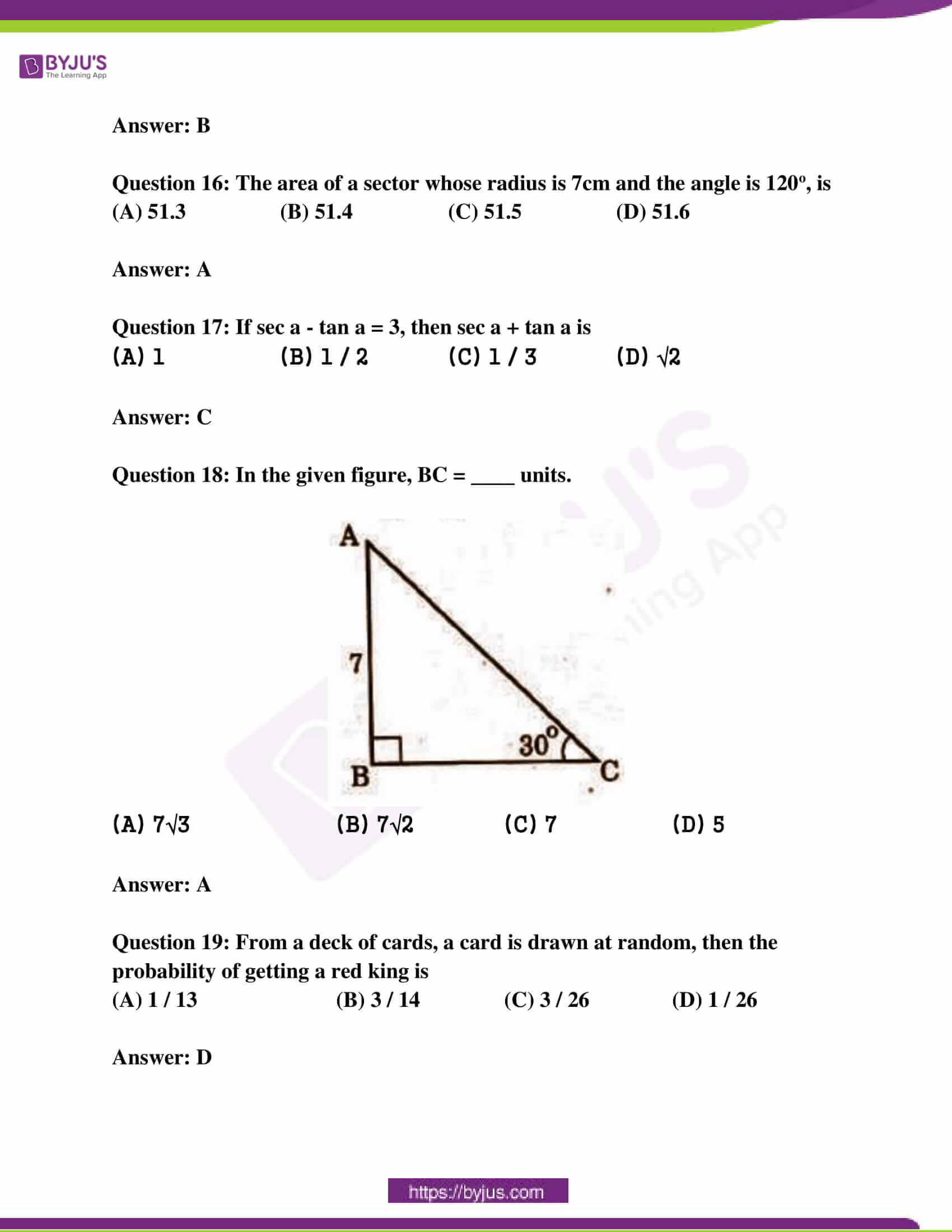 ap class 10 maths question paper 2 sol march 2018 12