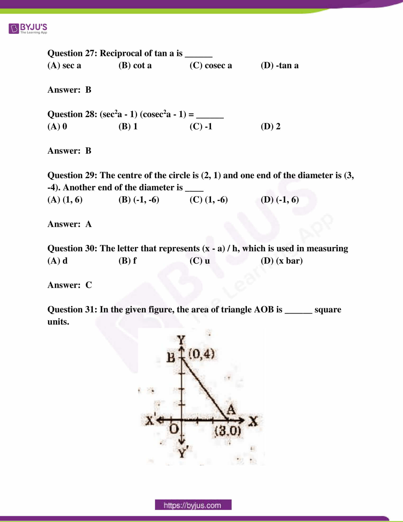 ap class 10 maths question paper 2 sol march 2019 13
