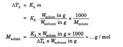 Determination of Molecular Mass of a Solute