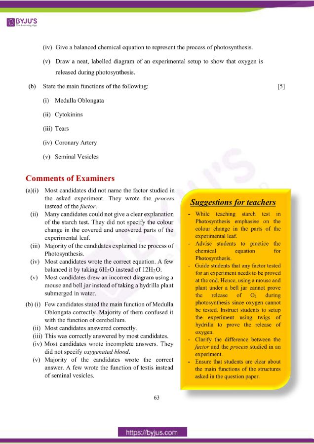 icse class 10 bio question paper solution 2019 10