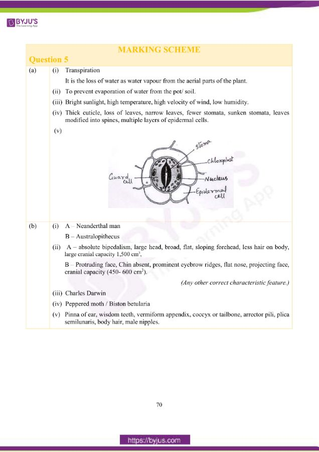 icse class 10 bio question paper solution 2019 17