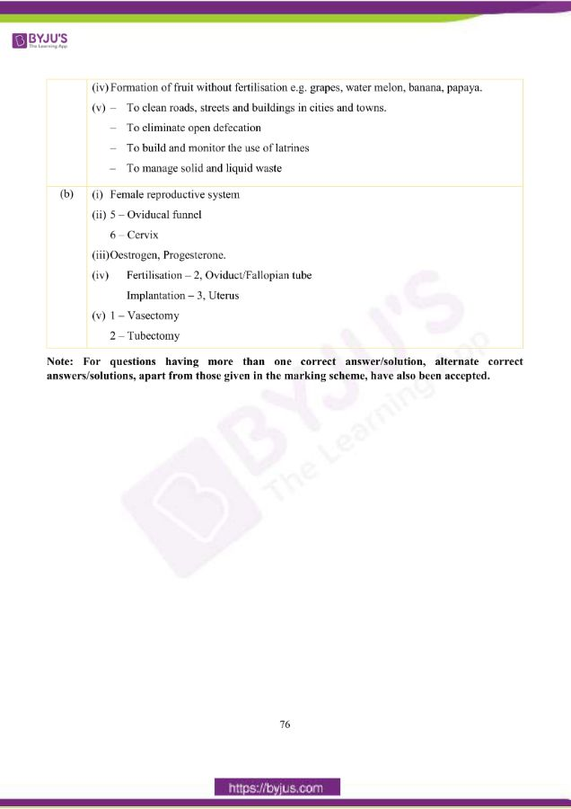 icse class 10 bio question paper solution 2019 23