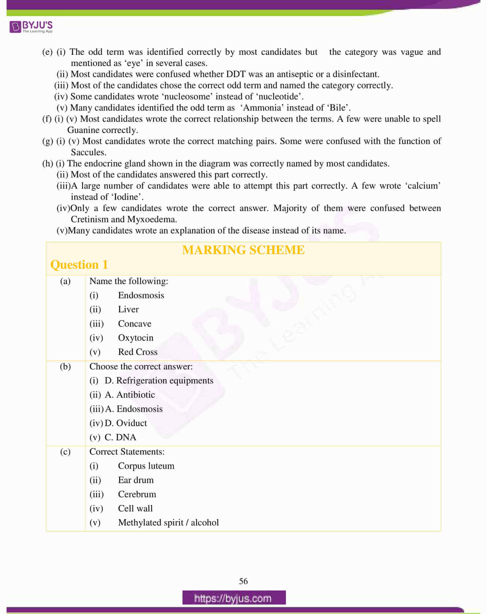 icse class 10 biology question paper solution 2017 06