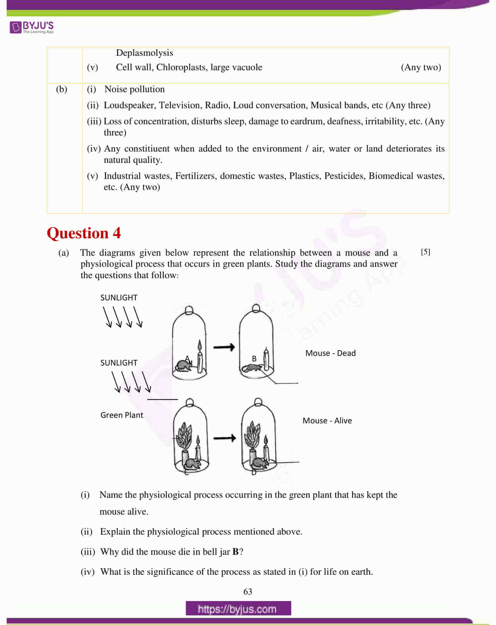 icse class 10 biology question paper solution 2017 13