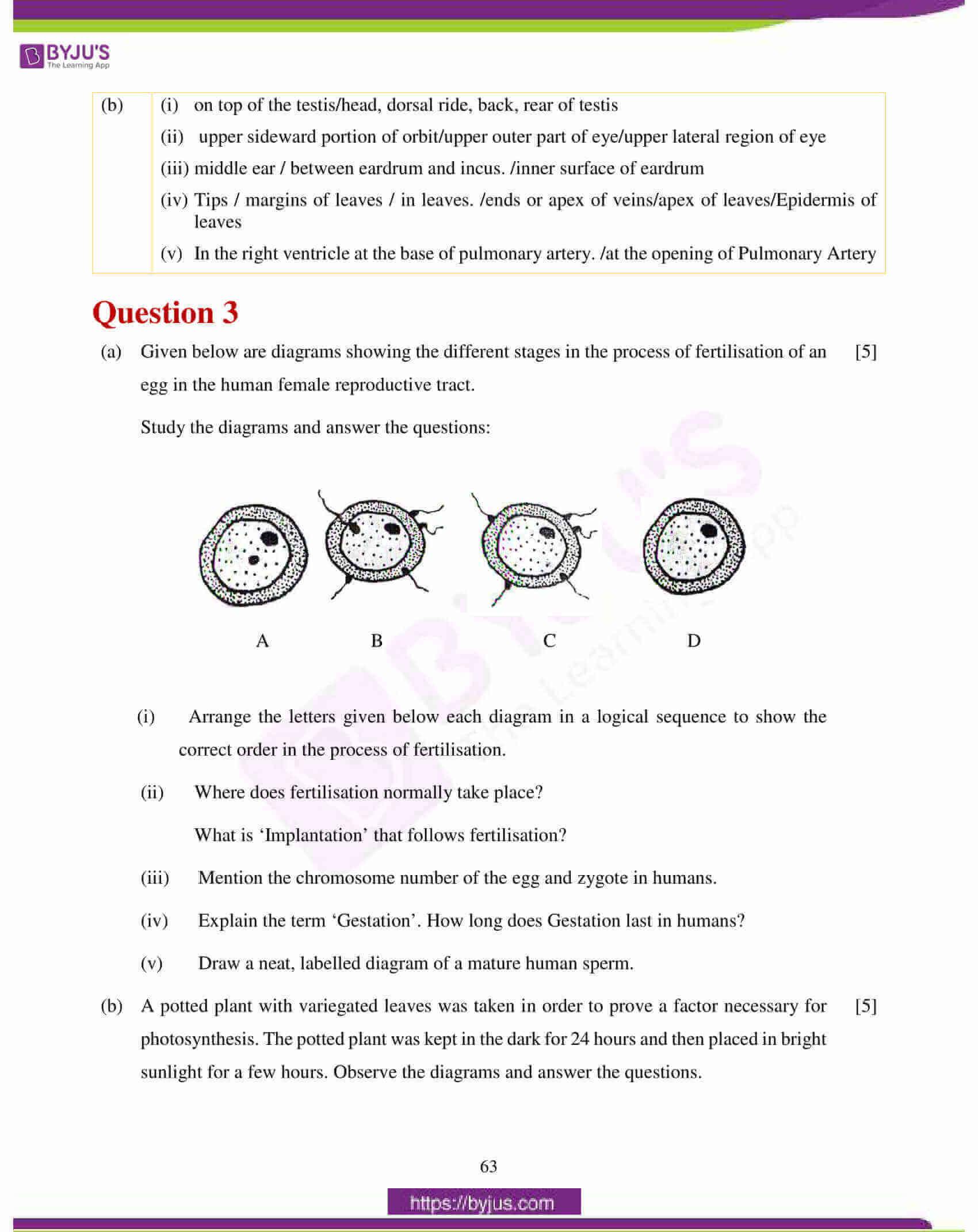 icse class 10 biology question paper solution 2018 10