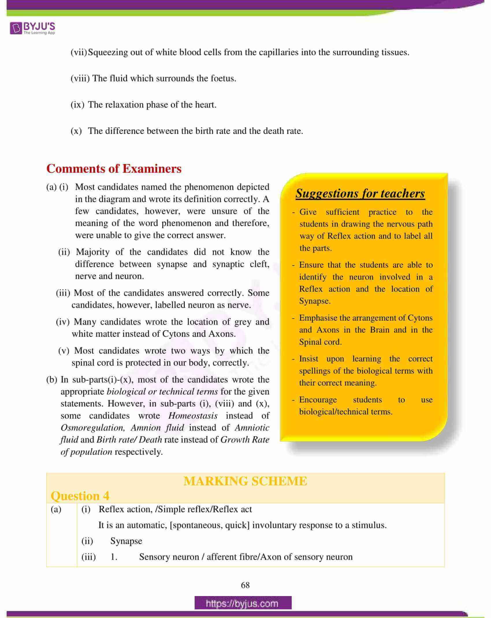 icse class 10 biology question paper solution 2018 15