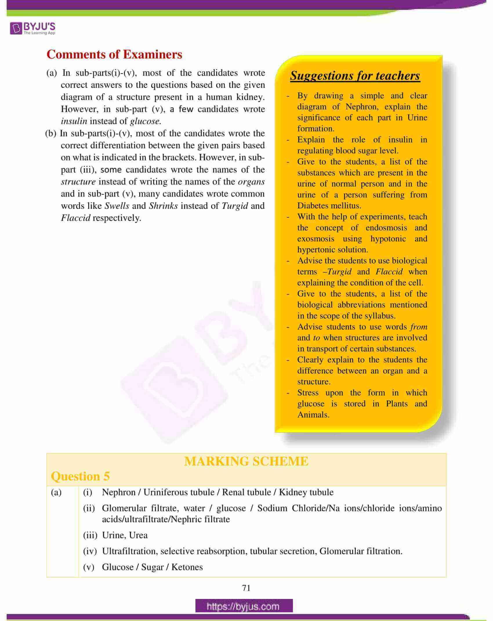 icse class 10 biology question paper solution 2018 18